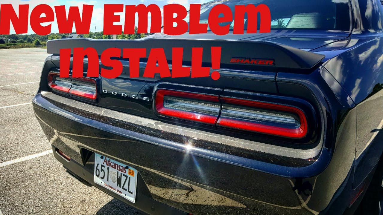 Dodge Emblems Badges Challenger Shaker New Emblem Install