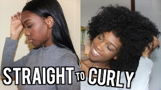 Straight to Curly: Natural Hair | Angelique Brown