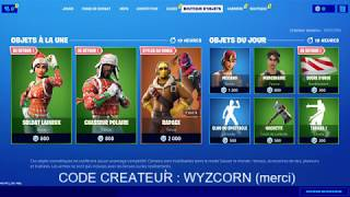 *NEW* BOUTIQUE 3 DECEMBRE 2019 FORTNITE BATTLE ROYAL RETOUR SOLDAT LAINEUX / ITEM SHOP 03/12