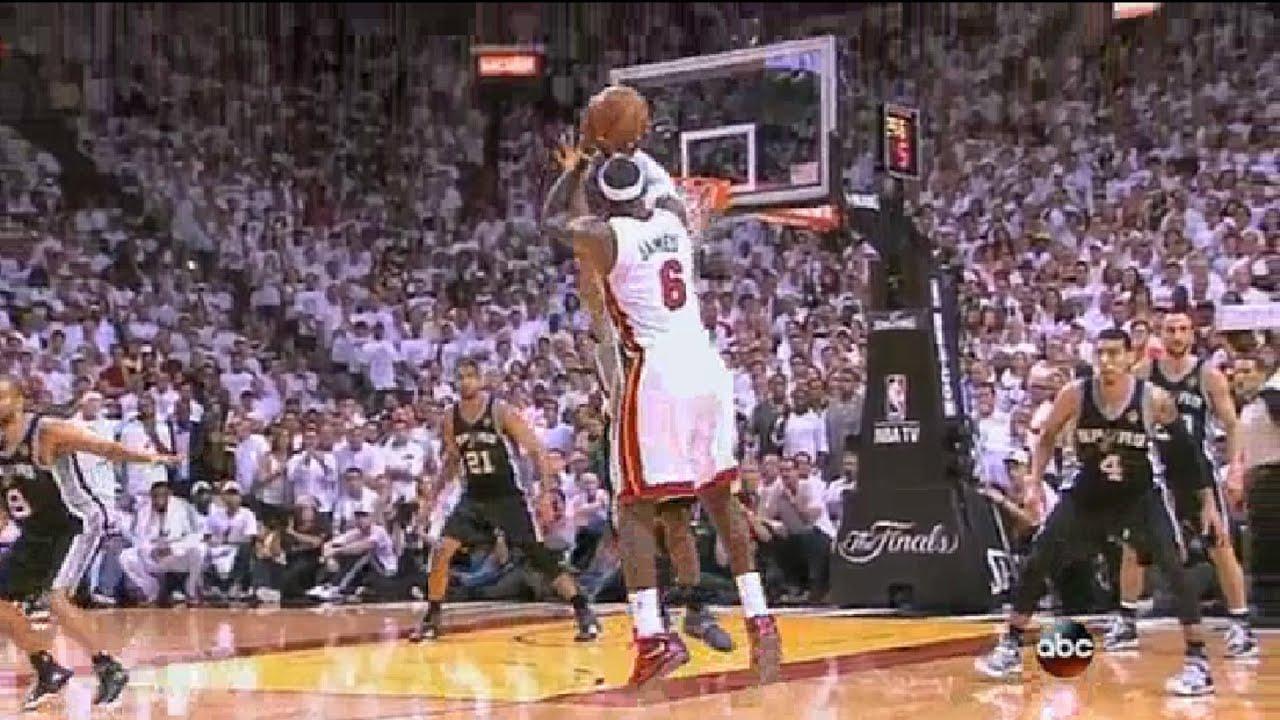 Lebron James Clutch Shot (Heat-Spurs Game 7) June 20, 2013 ...