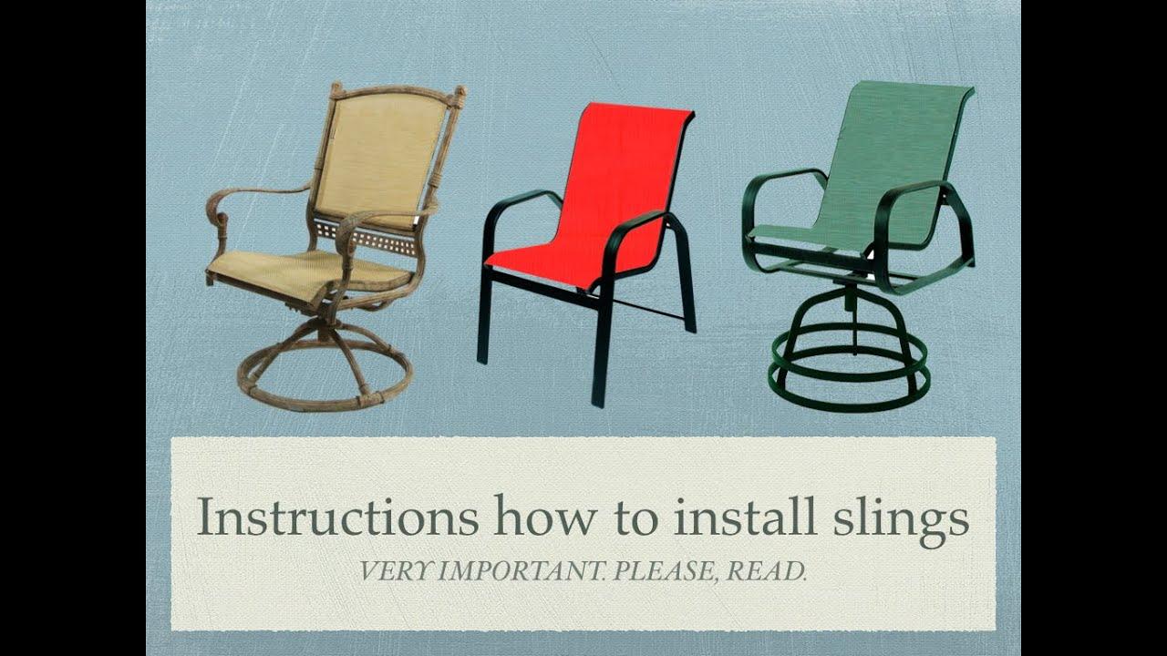 adjustable chair sling woodard