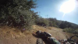 Go Pro HD Mountain Biking Sycamore Canyon in San Diego