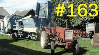 163# Życie zwyczajnego rolnika - Wyciąganie kombajnu Anna Z-644 ze stodoły