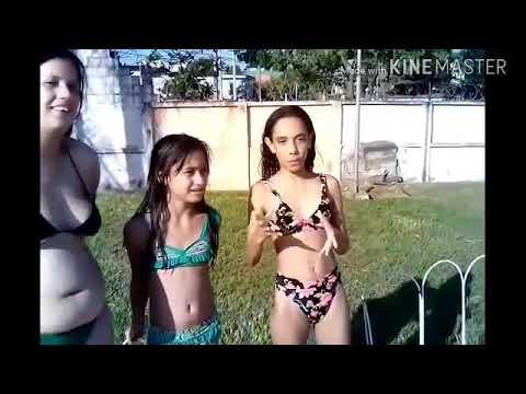 Desafio da piscina: se errar as palavras vai ter que pular da piscina. ▶4:25