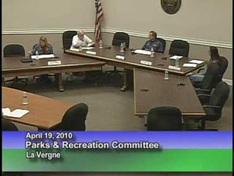 La Vergne Parks & Recreations Advisory Committee Meeting 4/19/10