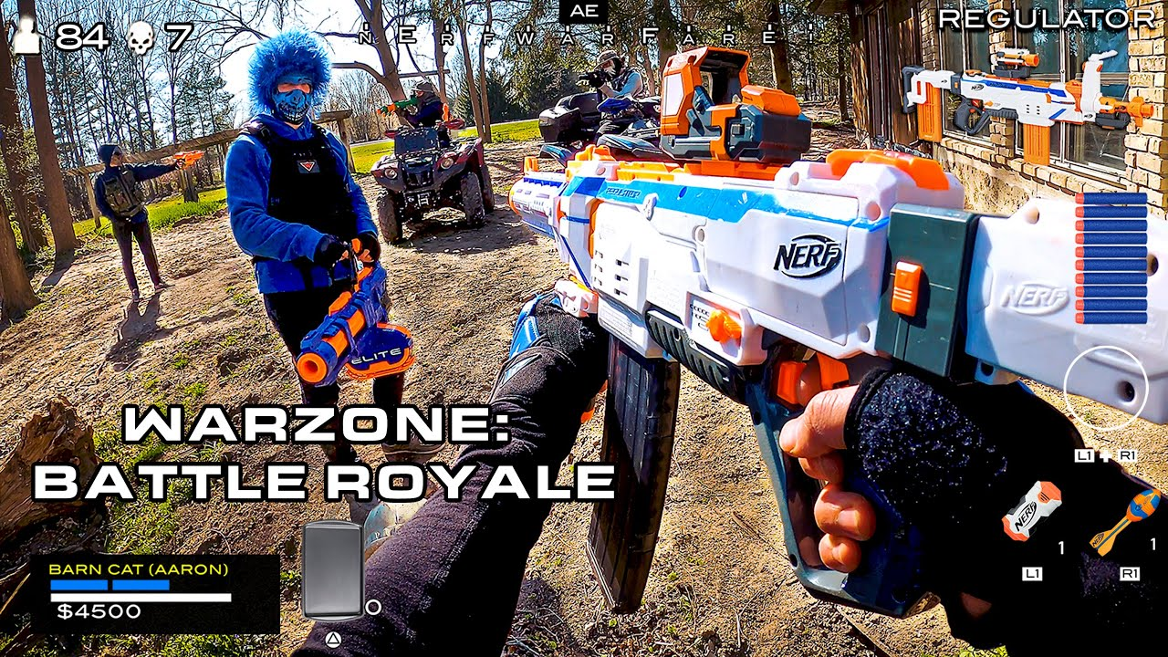NERF meets Call of Duty | Warzone: Battle Royale (First Person Shooter!)