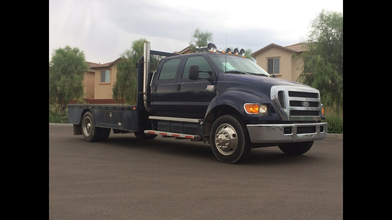 2004 ford f 650 supercrew xlt flatbed youtube. Black Bedroom Furniture Sets. Home Design Ideas