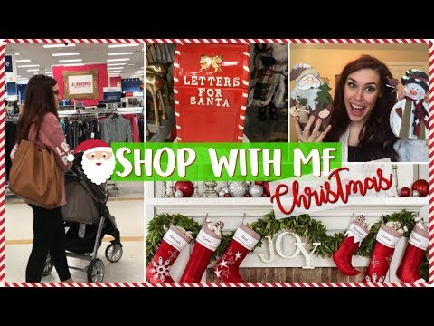 SHOP WITH ME CHRISTMAS DECOR | Christmas Shopping & Cheap Holiday Home Decor Haul 2017