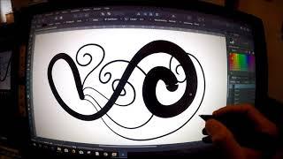 Grafiktablet XP Pen 22E Test Druckstufe im Affinity Designer