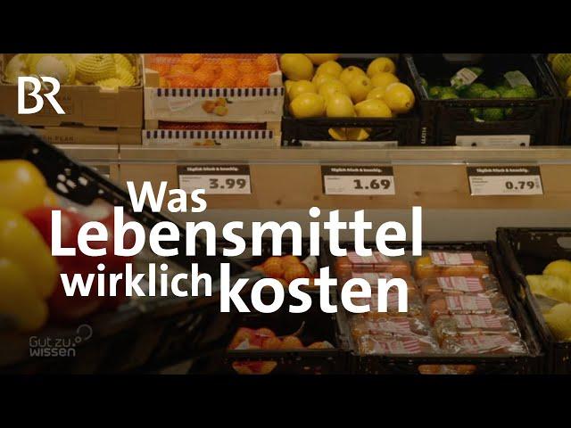 Kosten für die Umwelt: Der wahre Preis von Lebensmitteln | Gut zu wissen | BR