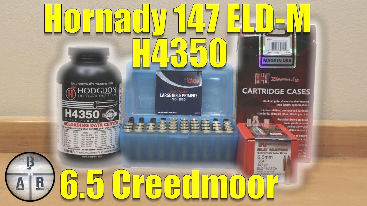 6 5 Creedmoor - Hornady 147 gr ELD-M with Hodgdon H4350 load development
