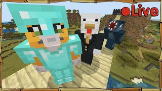 Minecraft - W/Squid + Sqaishey -  Live