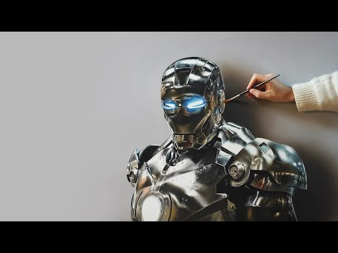 Iron Man | Oil Painting – 3D Art