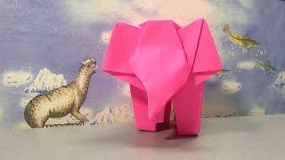 Оригами слон. Слоник из бумаги. Origami elephant. Elephant made of paper.