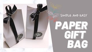 How to make paper gift bag + A…