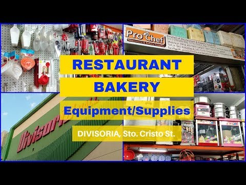 Restaurant/Bakery Equipment And Supplies In Divisoria