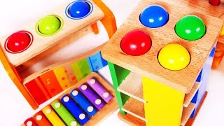 Learning Colors with Pounding Table Toys for Kids