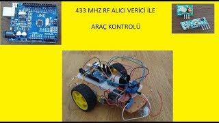 433 MHz alıcı verici rf modül ile uzaktan kumandalı araba yapımı (car transmitter rf car made)