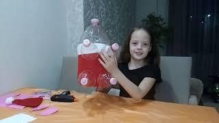 Новогодний поросенок из пластиковых бутылок
