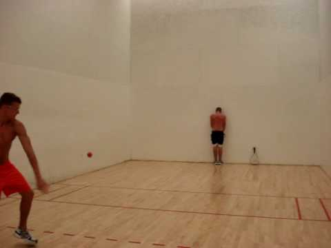 best racquetball hit ever! - YouTube