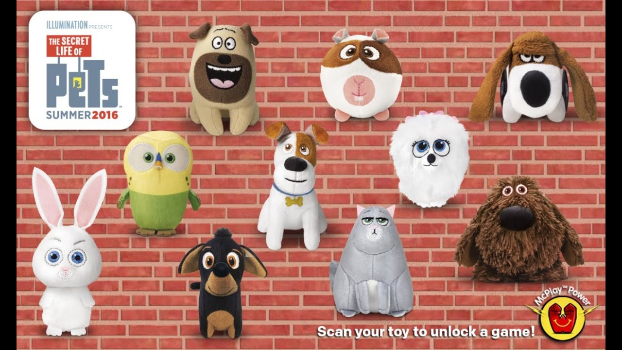 The Secret Life Of Pets Movie Toys Mcdonalds Happy Meal