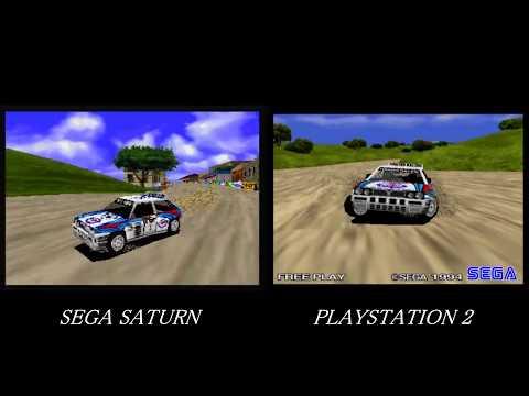 SEGA RALLY CHAMPIONSHIP Intro SS vs PS2