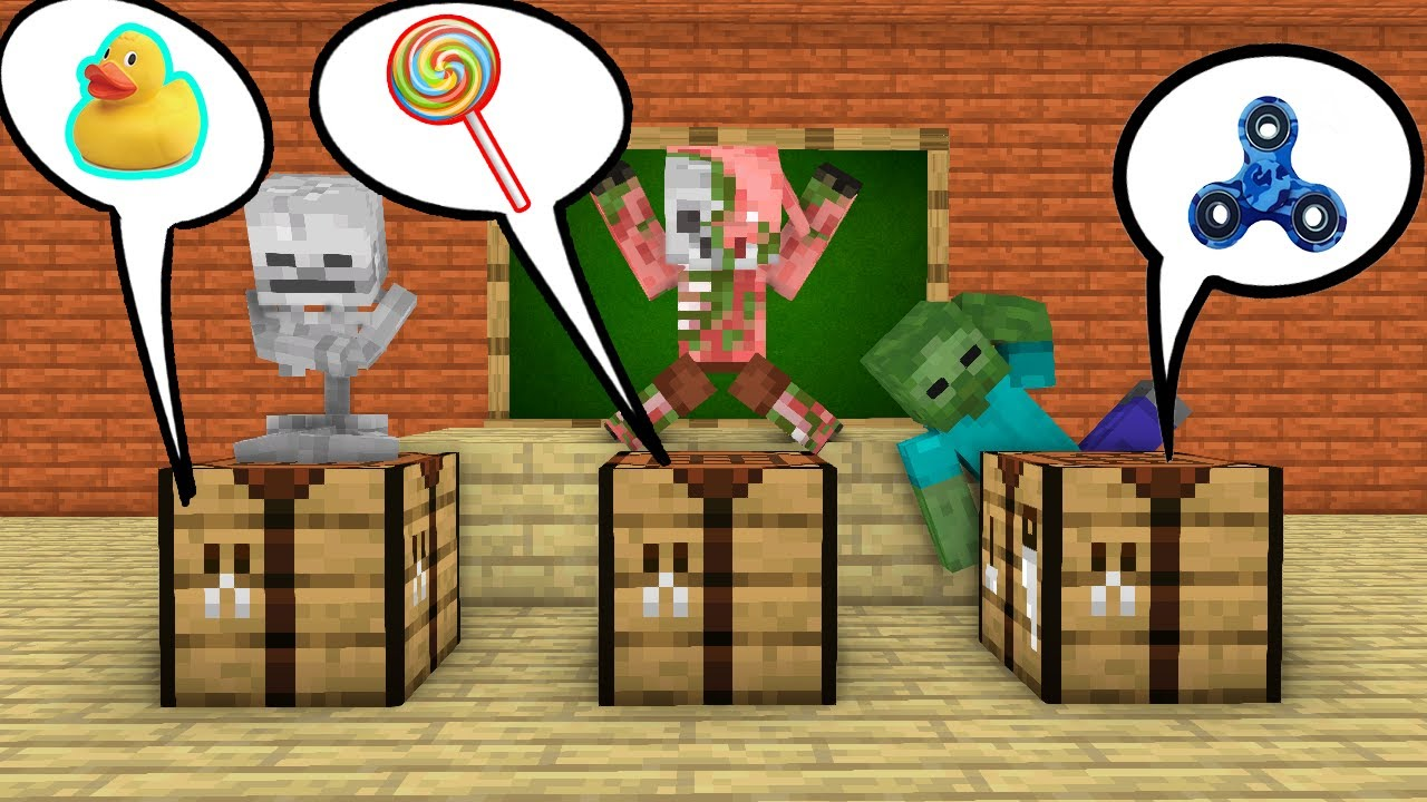 Monster School : Crafting table Challenge- Minecraft Animation