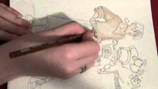 "Drawing Jim Hawkins, B.E.N., and Morph from ""Treasure Planet"""