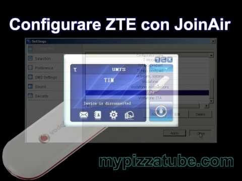 Configurare Internet Key ZTE con Join Air