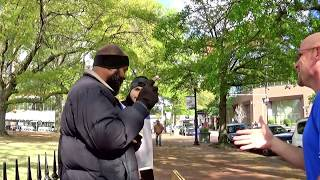 (3) - Arkansas  Israelite on the streets preaching the bible.