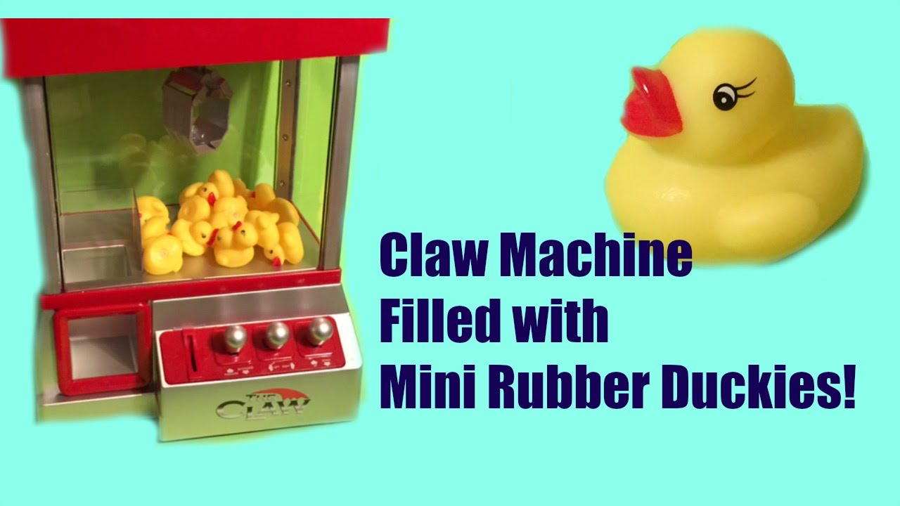 The Claw Machine filled with mini Yellow Rubber Duckies - Arcade ...