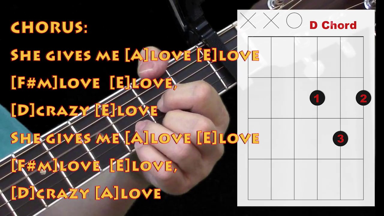 Crazy love with lyrics and guitar chordsdiagrams youtube crazy love with lyrics and guitar chordsdiagrams hexwebz Image collections