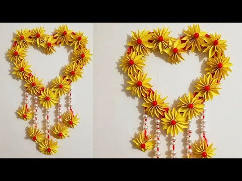 Diy Paper Craft Ideas Simple Home Decor At Home Hanging Flower
