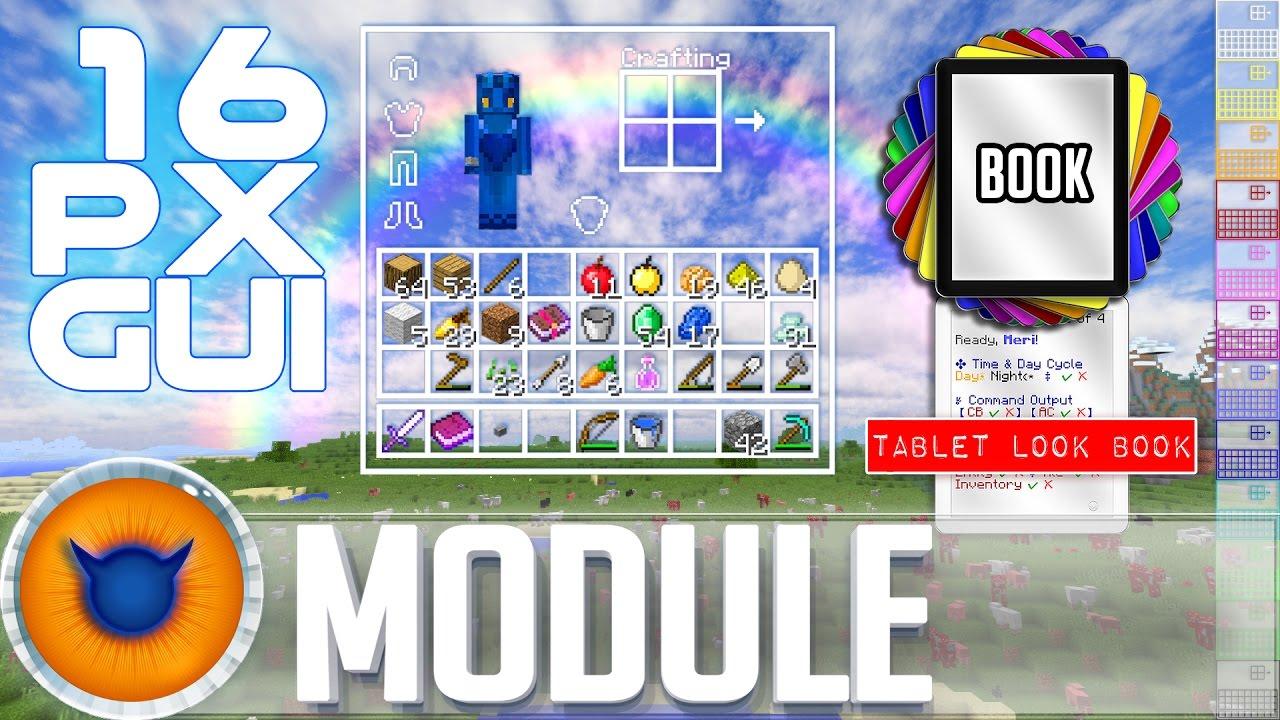 Transparent Clear Gui Resource Texture Pack Module 16px Minecraft 1 11 Infinitude Lapisdemon Youtube