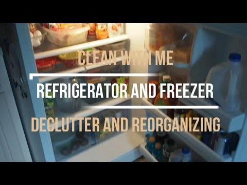 CLEANING OUT MY FRIDGE & FREEZER | CLEANING AND REORGANIZING