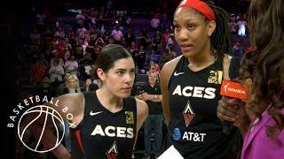 [WNBA] Plum, Wilson Post-Game Interview, Los Angeles Sparks vs Las Vegas Aces, August 31, 2019