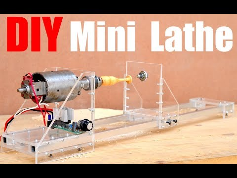 How to make a Mini Lathe Machine (Homemade Lathe/Wood Turner)