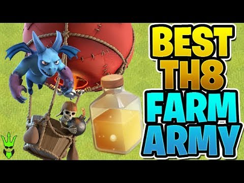 THE BEST TH8 FARMING ARMY! - Let's Play TH8 - Clash Of Clans