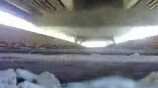 2 trains run over camera
