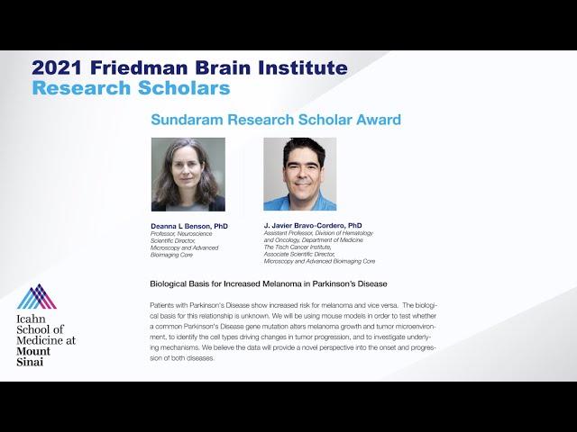 FBI Research Scholars: Deanna L Benson, PhD and J. Javier Bravo-Cordero, PhD