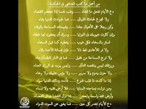 قصيدة للإمام الشافعي دع الايام تفعل ما تشاء صحب النبي 2 الشاعر المصري محمد نبيل Youtube