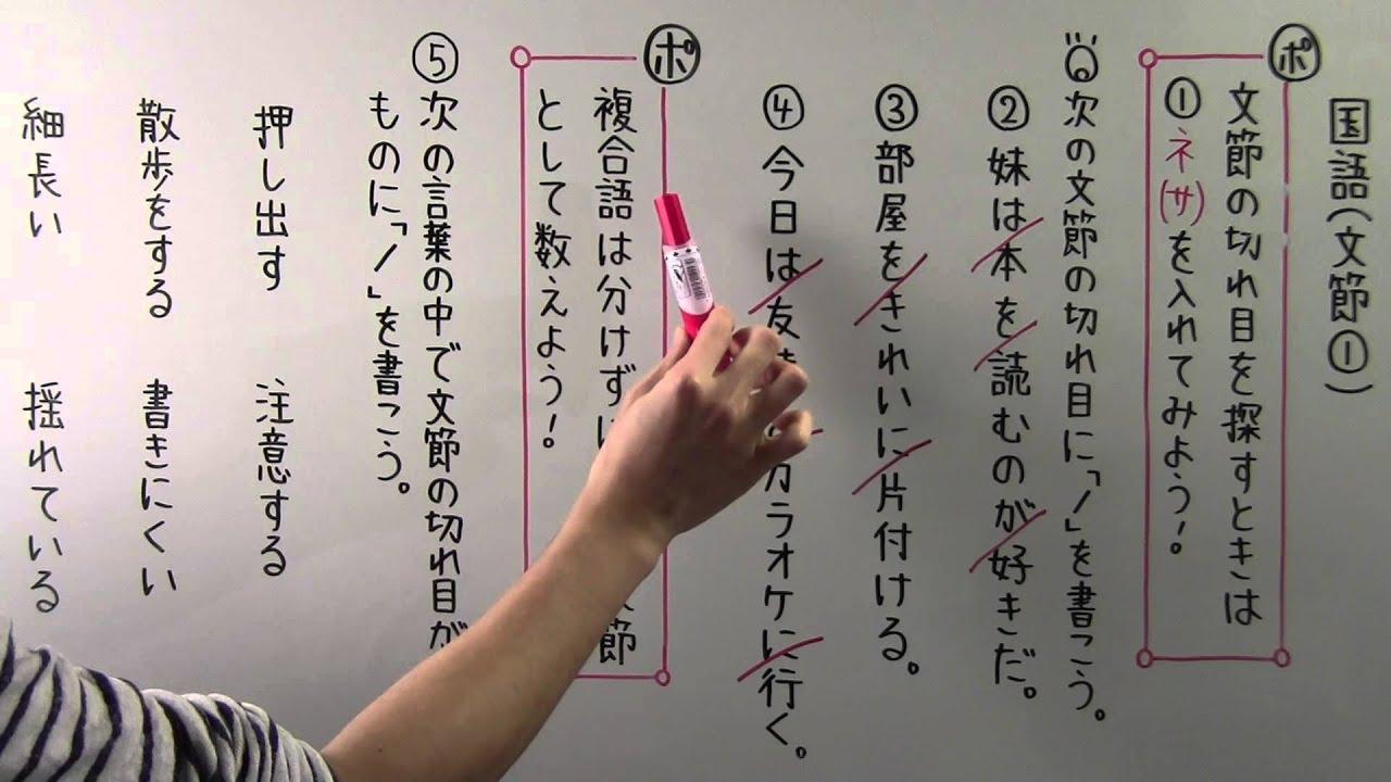 国語 文法2 文節①
