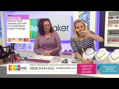 How To Make Wire Work Jewellery - JewelleryMaker LIVE (am) 29/01/2015