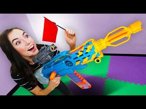 NERF Board Game | Capture the Flag Challenge!