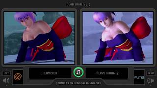 Dual Longplay [13] Dead or Alive 2 (Dreamcast vs Playstation 2) Kasumi Playthrough