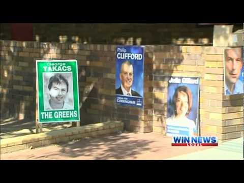 WIN News Illawarra - Young Adults encouraged to enrol to vote (30/5/2012)