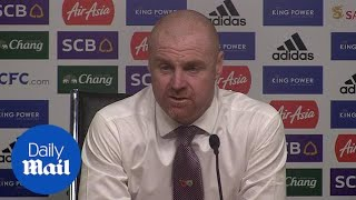 'It was tough on us and on Leicester': Burnley manager says