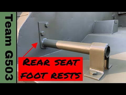 Installing The Rear Floor Foot Rests On A  Willys MB / Ford GPW  With Measurements, Team G503