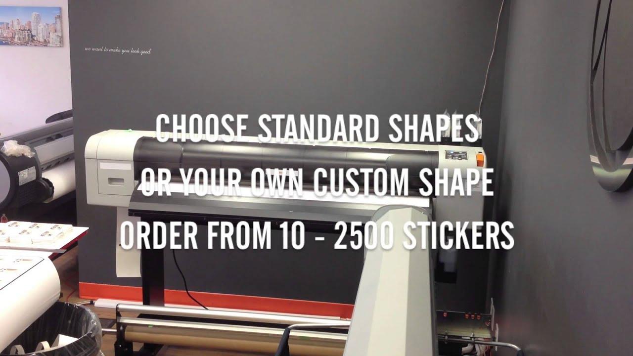 Clubcard EcoSolvent Vinyl Die Cut Sticker Printing Clubcard TV - Die cut vinyl sticker printing