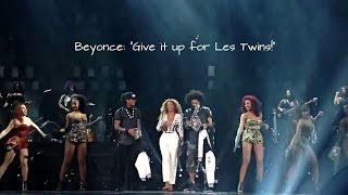 LES TWINS | Beyonce: 'Give it up for LesTwins!' | Mrs. Carter Show! Part 2